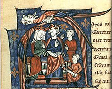 Eleanor and Henry holding court - http://en.wikipedia.org/wiki/Henry_II_of_England#mediaviewer/File:BecketHenryII.