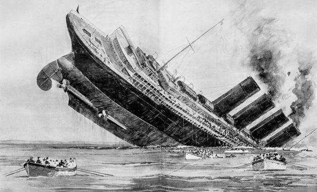 sinking of lus